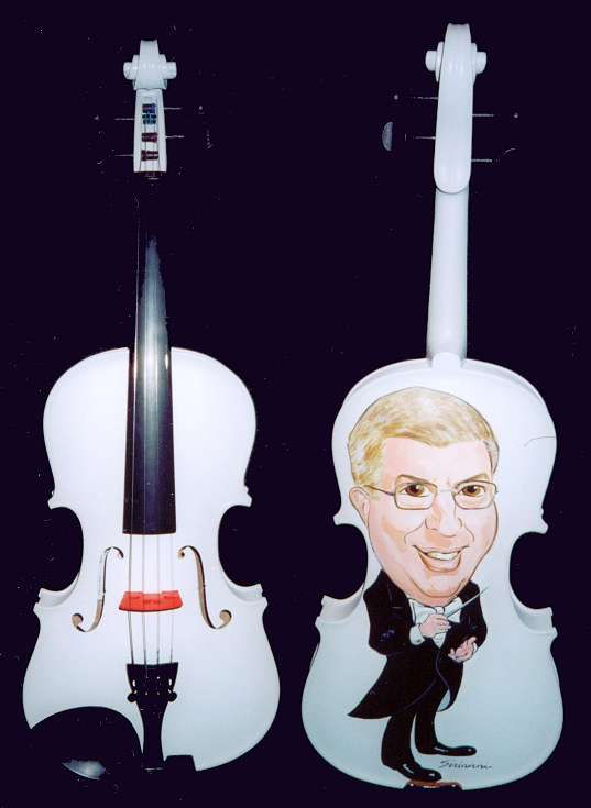 The Marvin Hamlisch Caricature Violin
