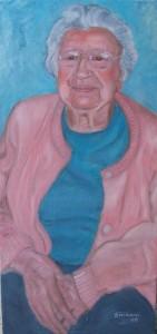 """""""Mom"""" Oil (18"""" x 30"""") 2008"""