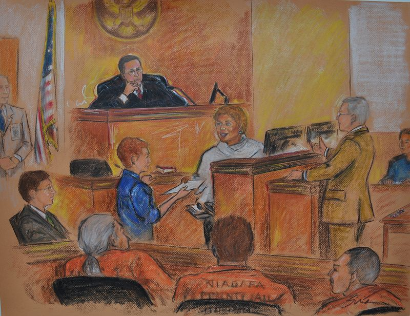 Recent Courtroom Drawing
