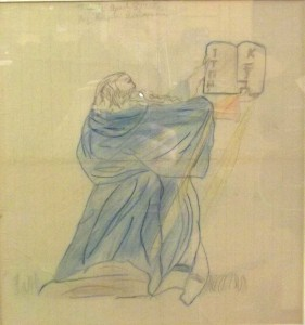 Moses (1958) Colored Pencil