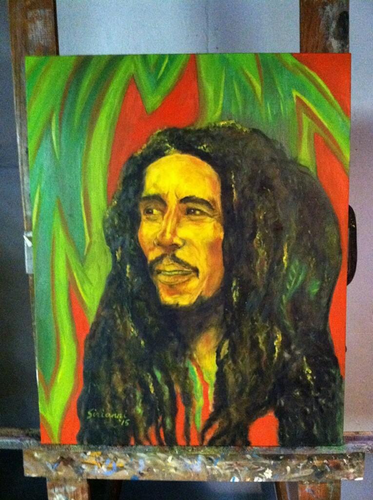 """""""Bob Marley"""" Oil (24""""x30"""") 2015"""